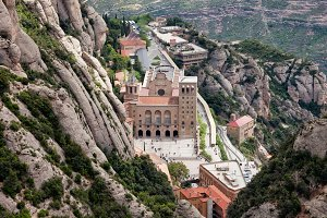 Monastery in Montserrat Mountains