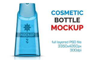 Clear Cosmetic Bottle Mockup Vol. 8
