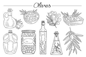 Olive Oil, Olive Branch Hand drawn