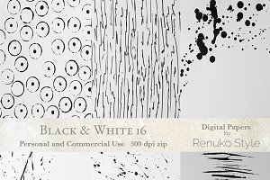 Black & White 16 Photoshop Textures