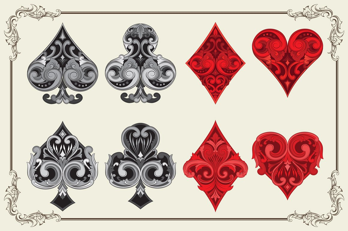 Playing card symbols photos graphics fonts themes templates ornament playing card biocorpaavc