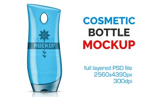 Clear Cosmetic Bottle Mockup Vol. 10