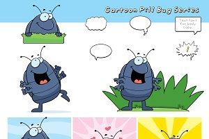Cartoon Pill Bug Series