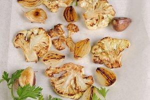 appetizer of fried  of cauliflower