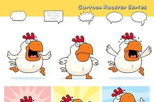 Cartoon Rooster Series