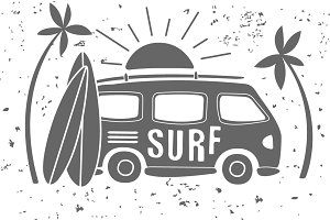 Vintage Summer Surf Print