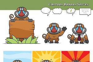 Cartoon Baboon Series