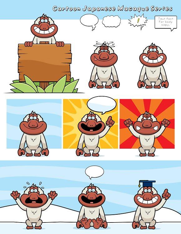 Cartoon Japanese Macaque