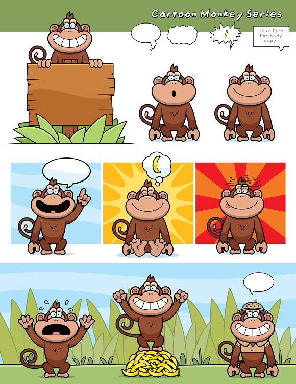 Cartoon Monkey Series