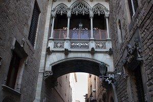 Carrer del Bisbe Street in Barcelona