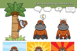 Cartoon Orangutan Series