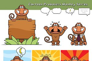 Cartoon Proboscis Monkey