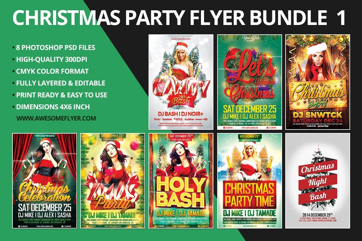 Christmas Flyer Template Bundle Flyer Templates on Creative Market – Mayhem Flyer Template