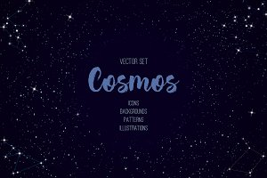 Cosmos vector set