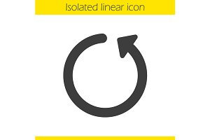 Reload linear icon. Vector