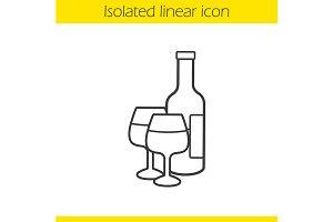 Wine linear icon. Vector