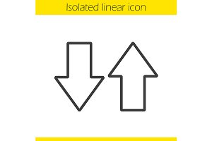 Up and down arrows icon. Vector