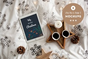 Christmas in bed - 8 photo mockups