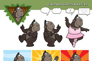 Cartoon Gorilla Series