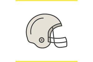 American football helmet. Vector