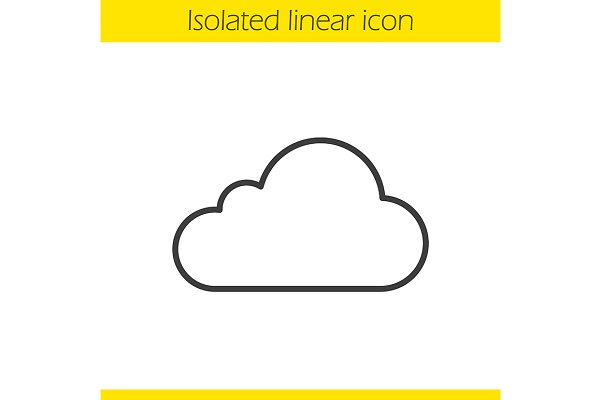Cloud hosting icon. Vector