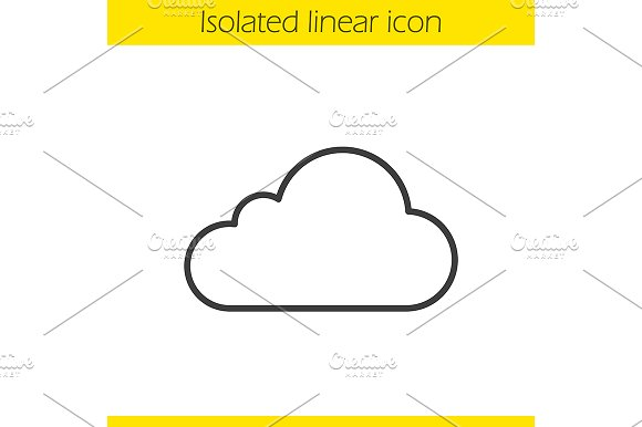 Cloud Hosting Icon Vector
