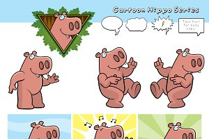 Cartoon Hippo Series