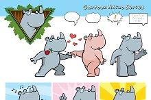 Cartoon Rhino Series