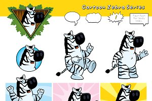 Cartoon Zebra Series