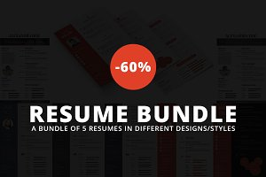 Premium Resume Bundle -60% OFF