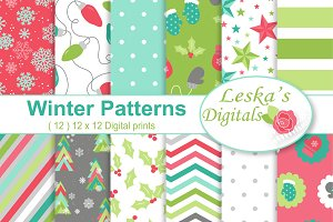 Christmas Digital Paper Patterns