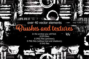 Brushes and Textures Set