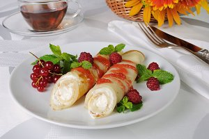 Pancakes with cottage cheese