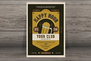 Vintage Happy Hour Beer Promotion