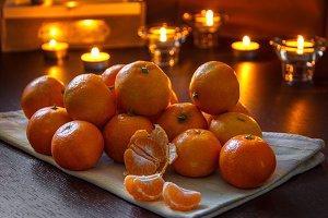 Fresh organic mandarins
