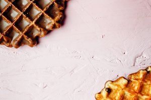 Sweet homemade waffles