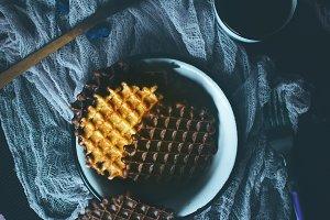 Sweet homemade waffles