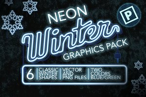 Neon Winter Graphics Pack