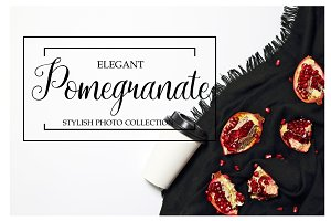 Elegant pomegranate photo collection