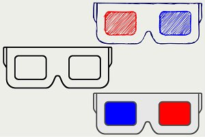 3-D Glasses SVG