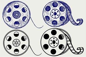 Film reel SVG