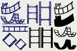 Set film strip SVG