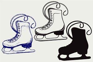 White skates SVG