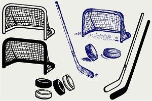 Hockey icon SVG