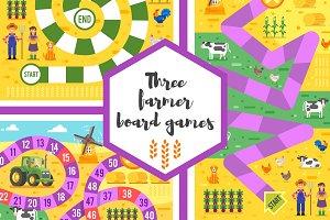 Three farming theme board games