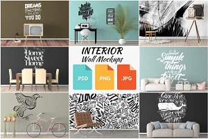Interior Wall Mockups Bundle 1-10