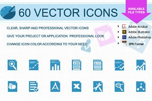 60 Flat style Icons for Business