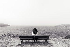 Girl sitting.