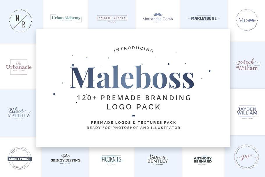 Maleboss Premade Branding Logos Logo Templates Creative Market