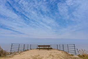 Bench on the coast.